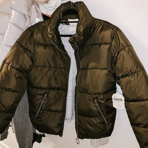 Altar'd State Olive Puffy Jacket